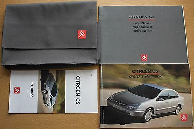 Citroen C5 Owners Manual Handbook Wallet 2001-2004 Pack 11741