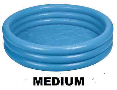 """Blue Inflatable Paddling Pool Blow Up Swimming Garden Ball Sand Pit 45x10"""" 59416"""