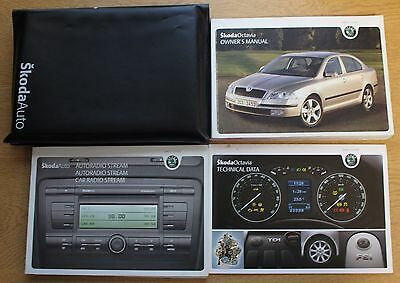 Skoda Octavia Ii Handbook Owners Manual Wallet 2004-2009 Pack 13477