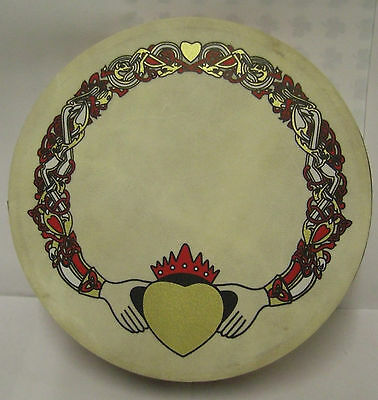 "Irish 8"" CLADDAGH Waltons Bodhran Drum Beater 2 Items"