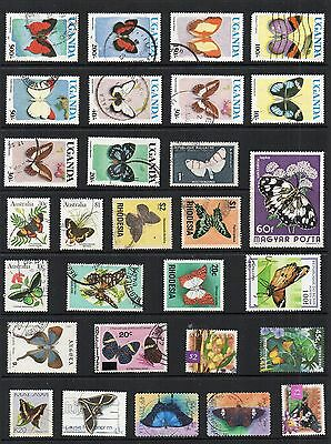 BUTTERFLIES Thematic STAMP Collection USED Ref: TS127
