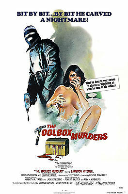 The Toolbox Murders Laminated Mini Horror Movie Poster A4