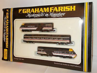 Graham Farish 8127 - HST (3-Car) BR Intercity Swallow Livery - Boxed.(N)