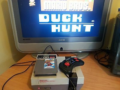 Nintendo Nes With 2 Controllers And 2 Games Working L@@k