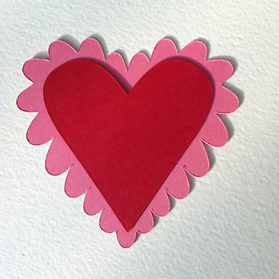 9 X Layered Heart Die Cut Shapes-Valentine
