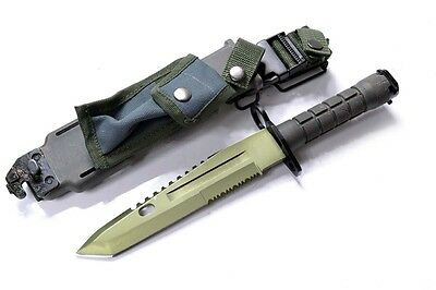 Survivor Special Ops Military Bayonet Knife Silver Blade