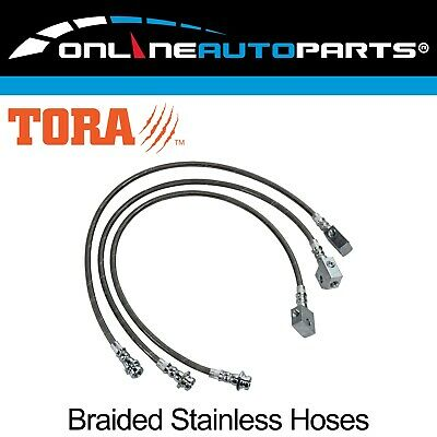Extended Braided Brake Lines for Patrol GU Y61 ABS ZD30 3.0L Diesel Hose W/ Lift
