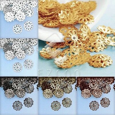 20g Appr.307-466pcs Flower Beads End Caps Spacer Jewelry Findings 1.5x8.5mm HC