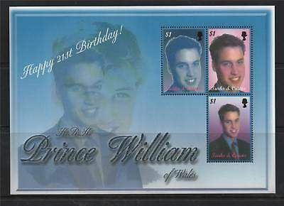 Turks&Caicos 2003 William's 21st B-day SG MS1805 MNH
