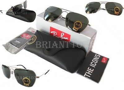 New Unisex Sunglasses Ray-Ban RB3136  003 Caravan Silver/Green 58mm