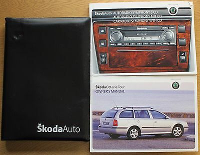 Skoda Octavia Tour I Handbook Owners Manual Wallet 2000-2010 Pack 12574