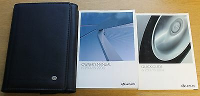 LEXUS IS 250 IS 220d HANDBOOK OWNERS MANUAL WALLET 2005-2009 PACK 3179