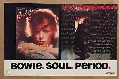 DAVID BOWIE 1991 SOUL PERIOD POSTER Station to Station Young Americans USED