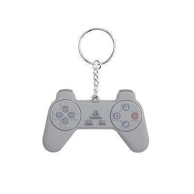 Playstation Keyring Keychain Controller new Official grey Rubber retro One Size