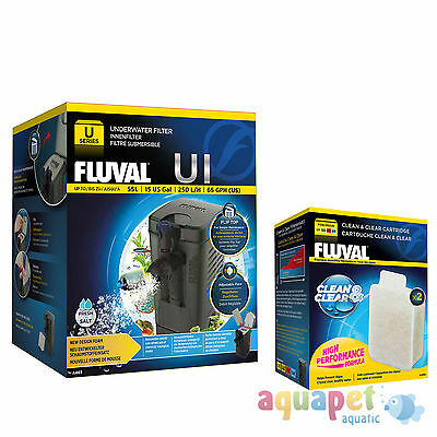 Fluval U1 Underwater Filter 55L NEW! with FREE Clean & Clear Cartridge