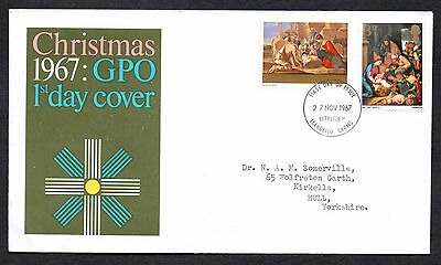 Gb 1967 Christmas  First Day Cover 1967
