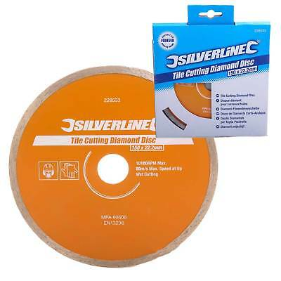 Silverline Diamond Tile Cutting Disc For Tile Cutters/Angle Grinders 150mmx22mm