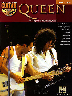 Queen Guitar Play-Along Vol 112 TAB Book with CD Learn to Play Songs Brian May