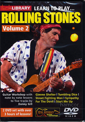 Learn to Play Rolling Stones Volume 2 Lick Library Guitar Tuition DVD Set