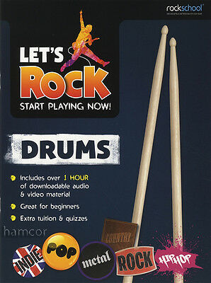 Let's Rock Drums Rockschool Learn to Play Beginner Tuition Method Audio & Video