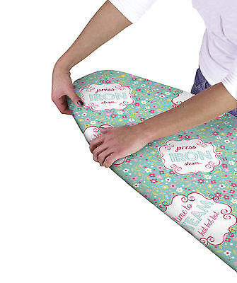 Country Club Multi Fit Elasticated Ironing Board Cover Floral Double Layer Back