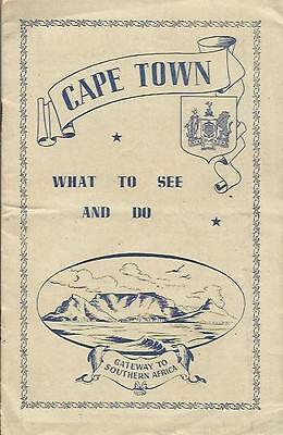 Cape Town  - South Africa ☆ Very Old 1946 Tourist Brochure ☆ Maps
