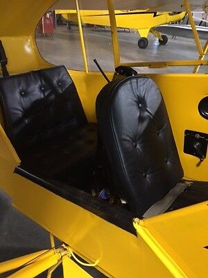 Piper J3 Cub Vinyl Seat Cushion Set, The Best You Will Find, Original Styling