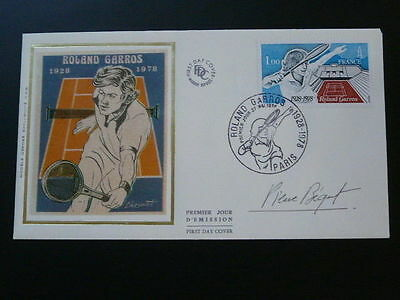 tennis Roland Garros FDC signed by engraver Pierre Bequet 57803