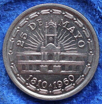 ARGENTINA - 1 peso ND (1960) KM# 58 America - Edelweiss Coins