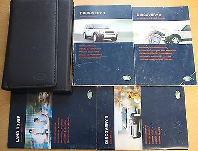 Land Rover Discovery 3 Handbook Owners Manual Navi 2004-2009 Pack 13496 !