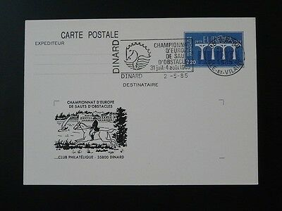 horse jumping Europe championship stationery card 1985