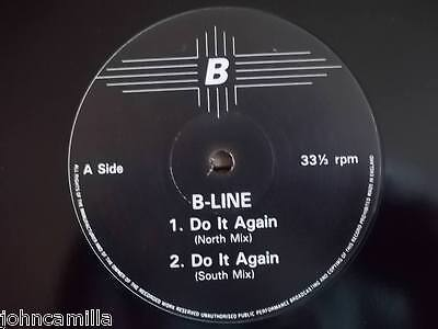 """B-Line - Do It Again 12"""" Record / Vinyl - Network Records - Nwkt 39"""