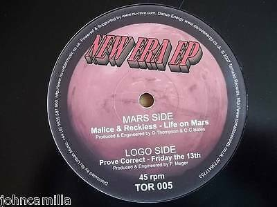"""Malice & Reckless - Life On Mars / Prove Correct - Friday The 13Th 12"""" - Tor 005"""