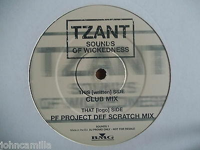 "Tzant - Sounds Of Wickedness 12"" Record / Vinyl - Logic Records (Uk) - Sounds 1"