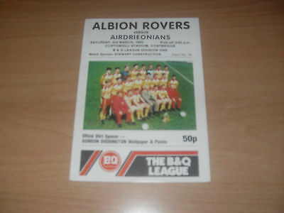 Albion Rovers v Airdrieonians 3/3/90