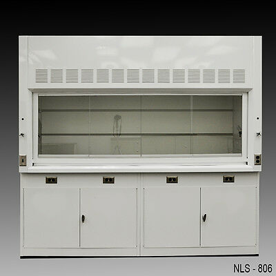 "Chemical Laboratory 8' Fume Hood with Base Cabinets and Epoxy Top ""NLS-806"""