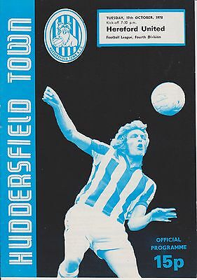 HUDDERSFIELD TOWN v HEREFORD UNITED 78-79  LEAGUE MATCH