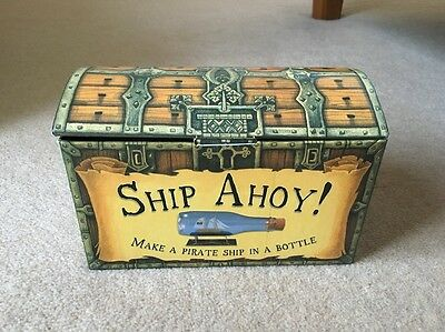 House of Marbles Pirate Ship in a Bottle Kit Set Ship Ahoy Build Make Your Own