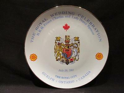 Guelph Ontario Limited Edition Royal City Plate Charles & Diana Wedding #272/300