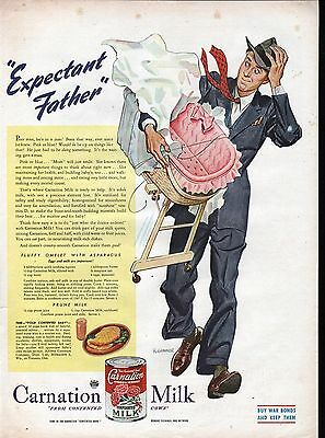 1945 Carnation Milk Expectant Father Ad