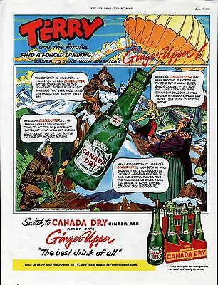 1953 Canada Dry Ginger Ale Soda Terry & The Pirate Art Ad