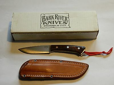 Bark River Knife Fox River Desert Ironwood Burl #2 With Sheath And Box
