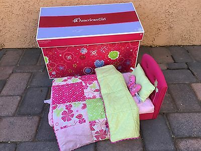 Retired American Girl Bloom Bed & Bedding Set with Original Box