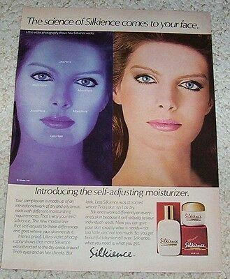 1982 print ad - Gillette Silkience skin care beauty girl Vintage magazine page