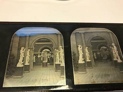Rare 1850s Daguerreotype Stereoview Inside the Crystal Palace London by Gladwell