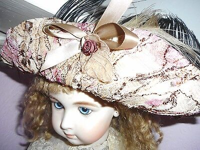 Lace Hat For Antique Doll