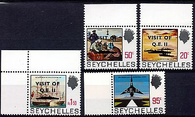 "Seychelles (853) 1975 Visit of Liner "" Queen Elizabeth 11""Over printed ""Visit of"