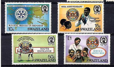 Swaziland (1028) 1985 80th Anniv. of Rotary int.  Very lightly mounted Sg477-80