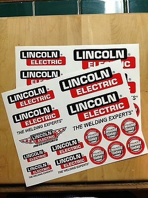 Lot ( 2 ) Lincoln Electric Welding Decal / Sticker Sheet