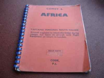 Comet 4 Airline Captains Personal Route Manual Africa